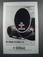 1959 SwissAir Airlines Ad - Big Change