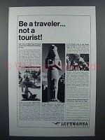 1964 Lufthansa Airlines Ad - Be A Traveler