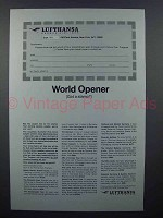 1965 Lufthansa Airlines Ad - World Opener