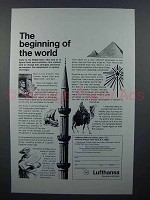 1965 Lufthansa Airlines Ad - Beginning of the World