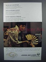 1966 JAL Air Lines Ad - Take the Fan in Your Left Hand