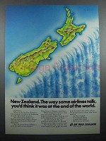 1977 Air New Zealand Ad - At The End of The World