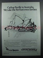 1984 Cathay Pacific Ad - Australia Even Farther