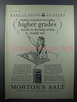 1928 Morton's Salt Ad - Children Making Higher Grades