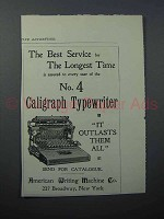 1897 Caligraph No. 4 Typewriter Ad - The Best Service