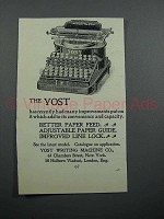 1897 Yost No. 4 Typewriter Ad - Better Paper Feed