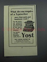 1897 Yost No. 4 Typewriter Ad - Do You Require