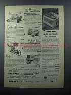 1957 Graflex Cameras, Projector, Tape Recorder Ad