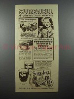 1936 Sure-Jell Pectin Ad - Astonishes Jelly Makers