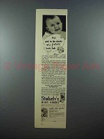 1937 Stokely's Baby Food Ad - Put Pink in the Cheeks
