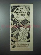 1938 Libby's Corned Beef Ad - Table Ready