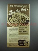1938 Stoekly's Gold Bantam Corn Ad - Try This