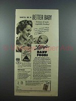 1939 Libby's Baby Food Ad - She'll Be Better