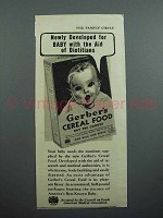 1939 Gerber's Cereal Food Ad - Developed for Baby
