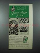 1940 Green Giant Peas Ad - Pick Them and Pack Them