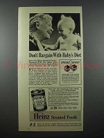 1941 Heinz Strained Tomato Soup Baby Food Ad - Don't Bargain