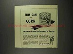 1941 Green Giant Niblets Corn Ad - New Food Standard