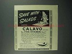 1942 Calavo Avacado Ad - Save With Salads