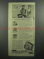 1943 Sure-Jell Pectin Ad - You Sure Saved Our Fruit
