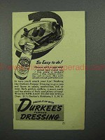 1944 Durkee's Dressing Ad - So Easy To Do!