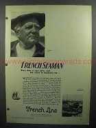 1930 French Line Cruise Ad - French Seaman