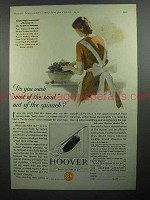 1930 Hoover Vacuum Cleaner Ad - Most of the Sand
