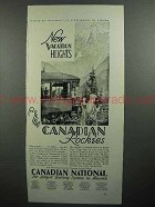 1930 Canadian National Railway Ad - Vacation Heights