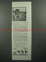 1930 NYK Line Cruise Ad - Modern Romance in Japan