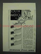 1930 Furness Prince Line Cruise Ad - South America