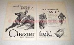 1930 Chesterfield Cigarettes Ad - Football Players