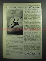 1931 Autogiro Aircraft Ad - Mysterious nor Miraculous