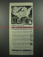 1931 American Airways Ad - Organized Air Transportation