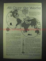 1931 Metropolitan Life Insurance Ad - All Over World