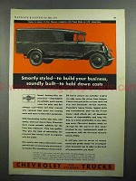 1931 Chevrolet Six Panel Truck Ad - Smartly Styled