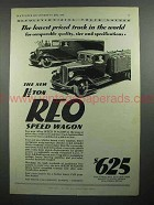 1931 REO Speed Wagon Truck Ad - Lowest Priced