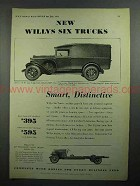 1931 Willys Six Truck Ad - Smart, Distinctive