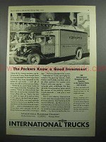 1931 International Harvester Truck Ad - Packers Know