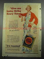 1931 Lucky Strike Cigarettes Ad - Dorothy Mackaill