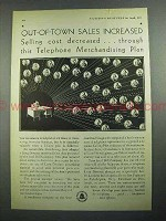 1931 Bell Telephone Ad - Out-of-Town Sales Increased