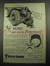 1931 Firestone Puncture Proof Tubes Tire Ad