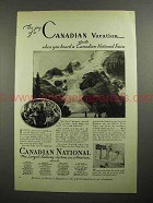 1931 Canadian National Railway Ad - Vacation Starts