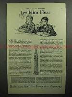 1932 Metropolitan Life Insurance Ad - Let Him Hear