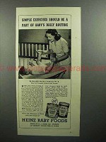 1945 Heinz Baby Food Ad - Simple Exercises