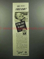 1945 Libby's Baby Food Ad - Yours Can be a Smile Baby