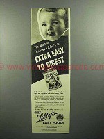 1945 Libby's Baby Food Ad - His Doctor Knows!