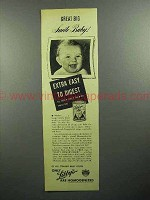 1945 Libby's Baby Food Ad - Great Big Smile Baby