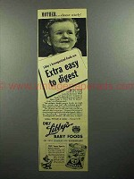 1945 Libby's Baby Food Ad - Mother Choose Wisely