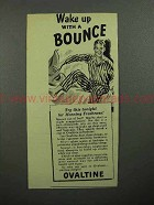 1945 Ovaltine Drink Mix Ad - Wake Up With A Bounce
