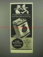 1945 Van Houten's Cocoa Ad - The World's Best