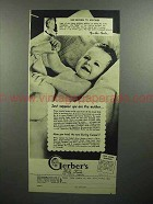 1946 Gerber's Baby Food Ad - Suppose You Are the Mother